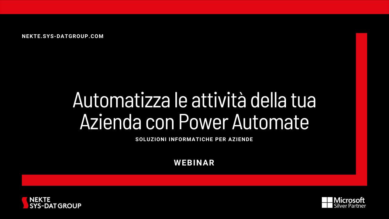 Automatizza le attività della tua Azienda con Power Automate