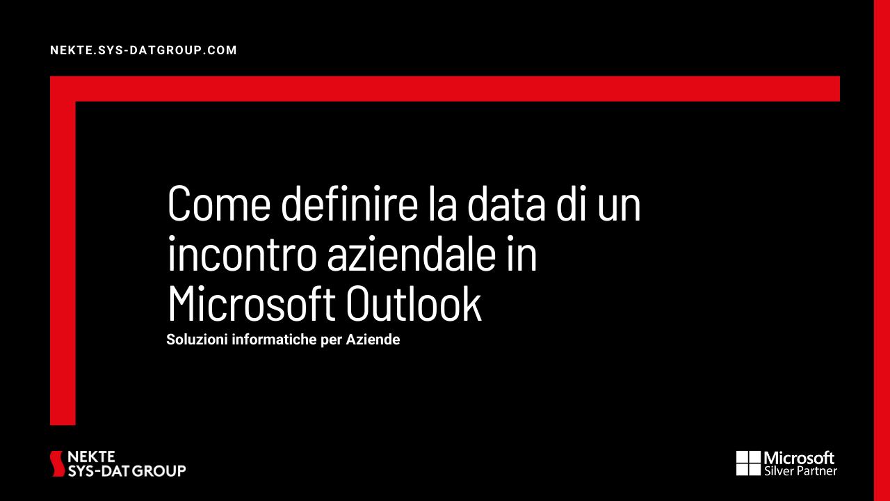Come definire la data di un incontro aziendale in Microsoft Outlook