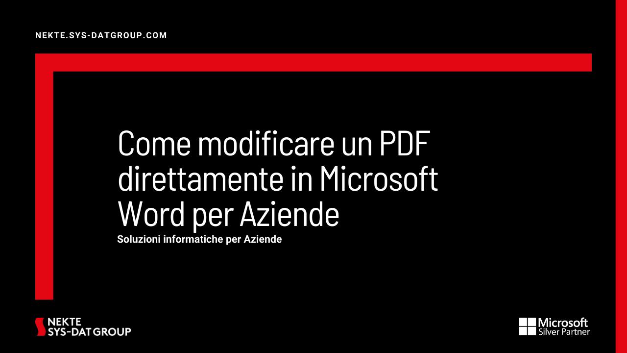 Come modificare un PDF direttamente in Microsoft Word per Aziende