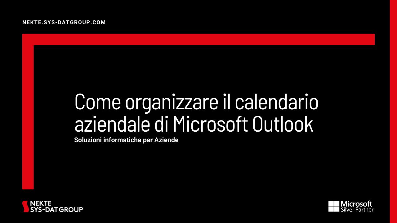 Come organizzare il calendario aziendale di Microsoft Outlook