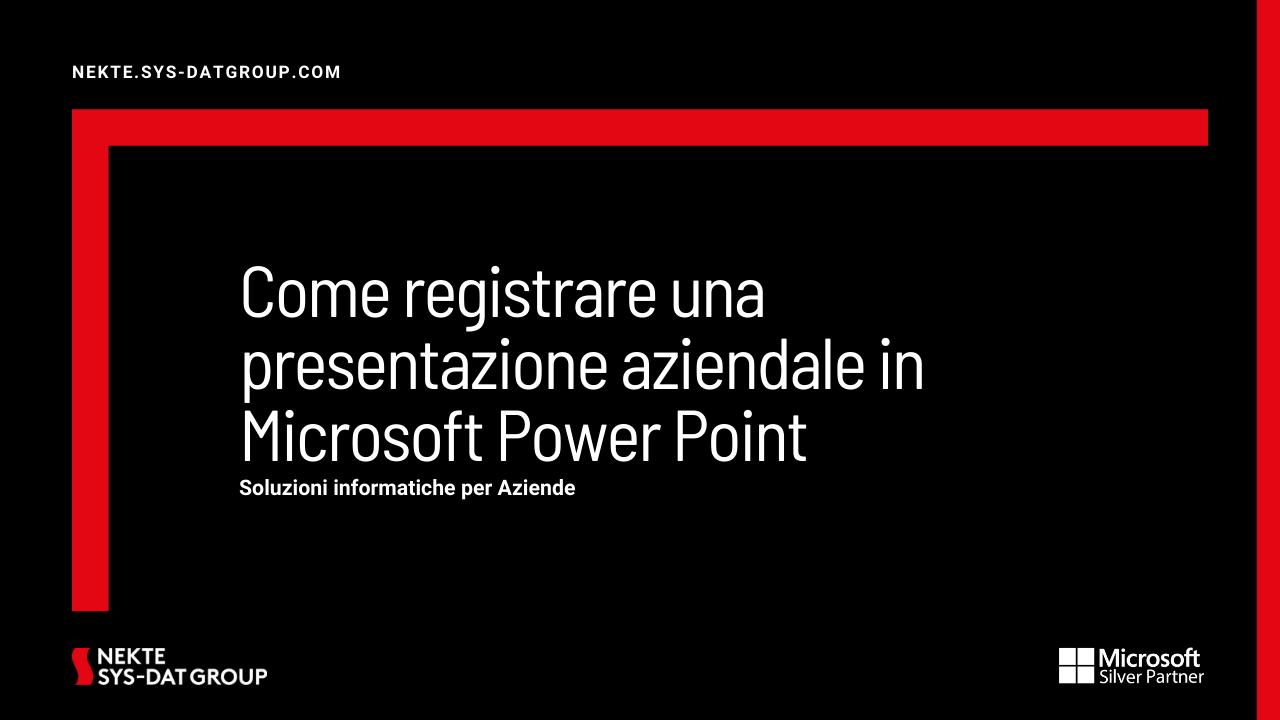 Come registrare una presentazione aziendale in Microsoft Power Point