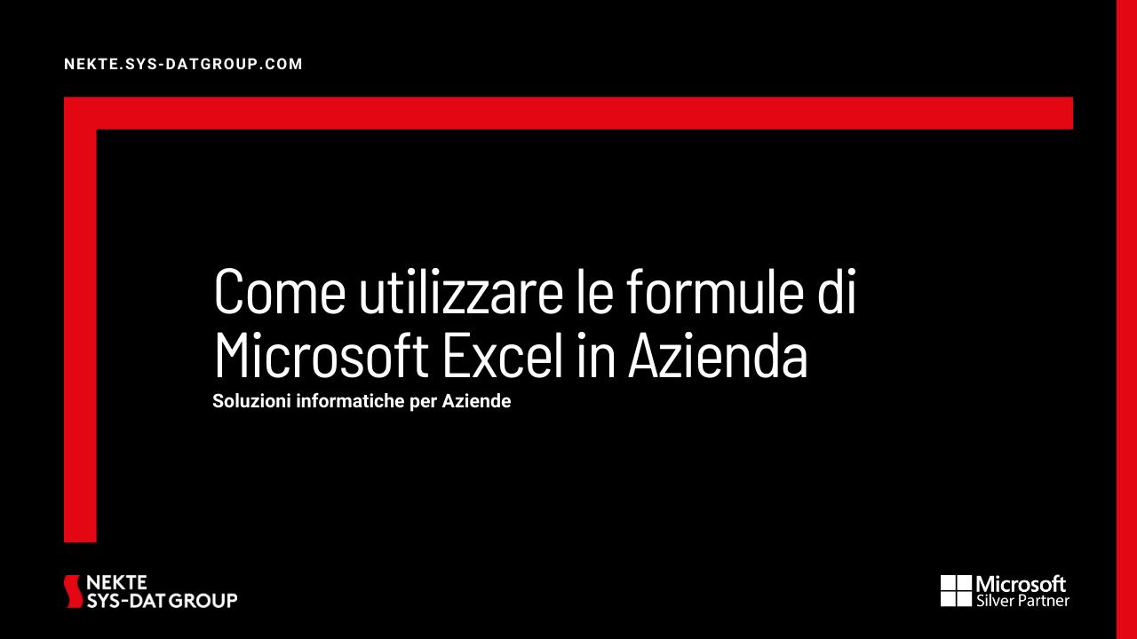 Come utilizzare le formule di Microsoft Excel in Azienda