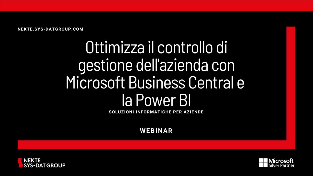 Ottimizza il controllo di gestione dell'azienda con Microsoft Business Central e la Power BI